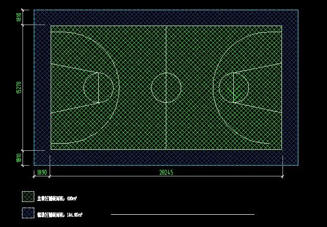 篮球场画线图简介