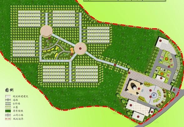 图纸 园林设计图 园林景观素材 植物素材图例 公墓规划设计全套  上传