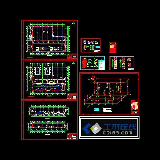 某电厂消防系统设计施工图_cad图纸下载-土木在线