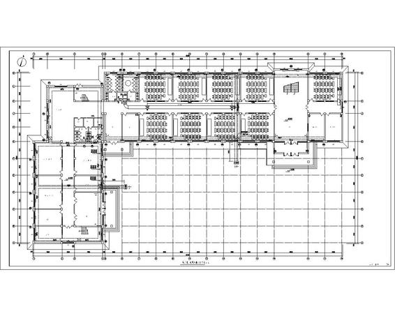 甘肃某县教学楼暖通图纸 河南某县四层砖混结构小学教学楼建筑施工图