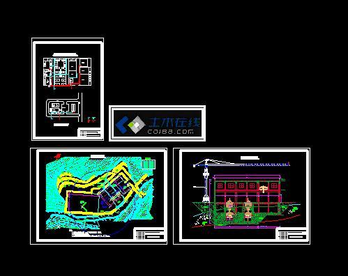 剪高层完整结构施工图纸 四川某水电站技施阶段厂房结构设计施工图纸