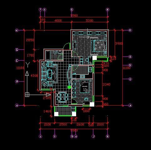 经典小户型CAD