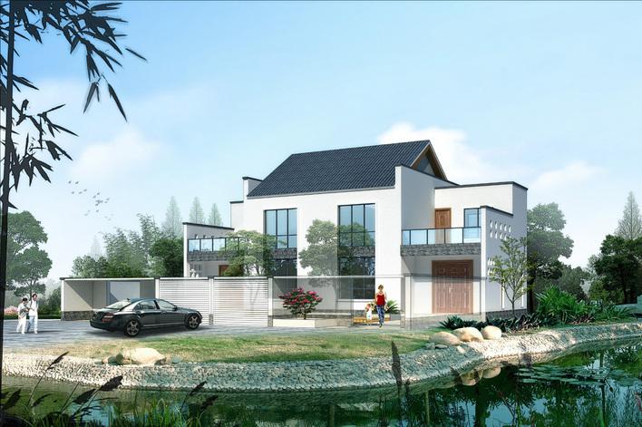 新农村别墅住宅设计图 高清图片