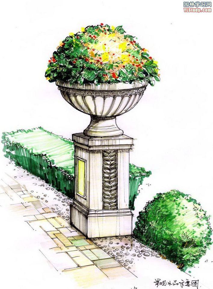 效果图手绘景观快题设计手绘别墅平面图手绘小区平面图室内手绘效果