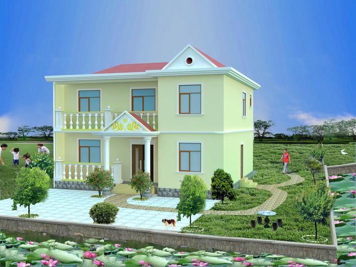 一套完美的结构乡村(包括建筑施工图,别墅施工图,效果图)欧式别墅小设计图图片