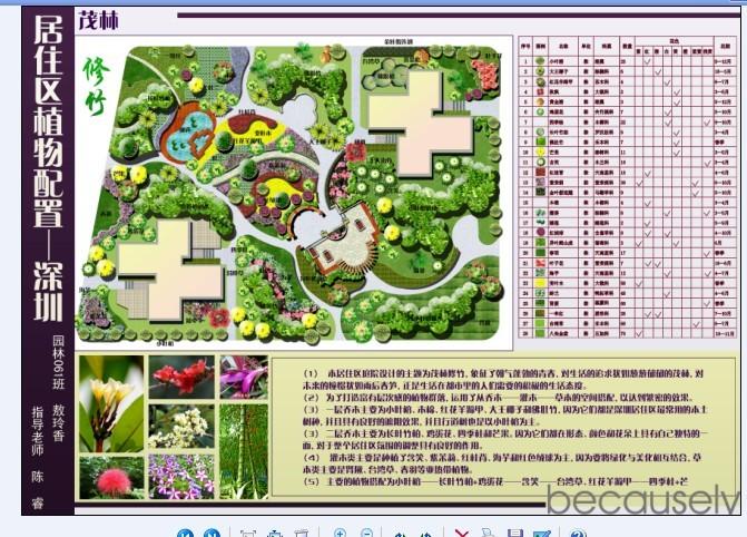 居住区景观植物配置图1