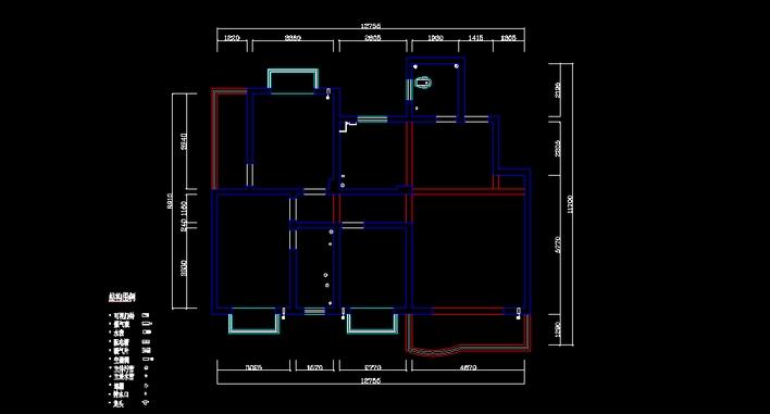 户型图 平面图 708