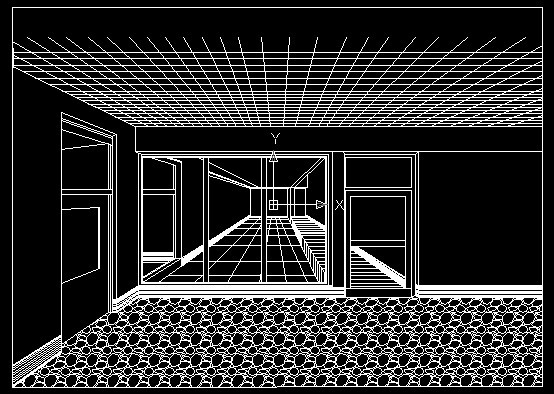 室内设计透视图 咖啡厅室内透视效果图 成角透视室内设计图 景观透视