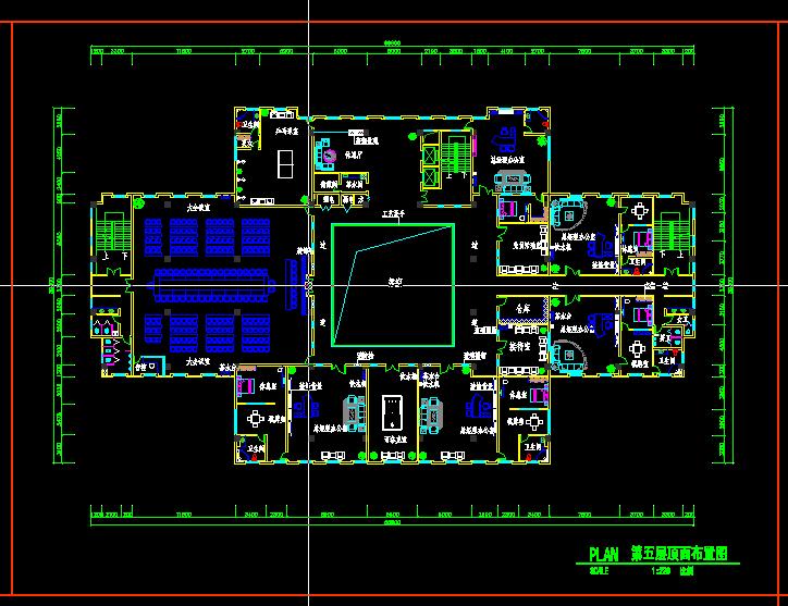 某大型办公楼施工图.现场已经竣工.现传出图纸以供大家高清图片