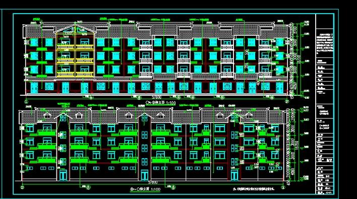 某底框四层仿古住宅楼_co土木在线(原网易土木; 坡屋顶住宅楼效果图