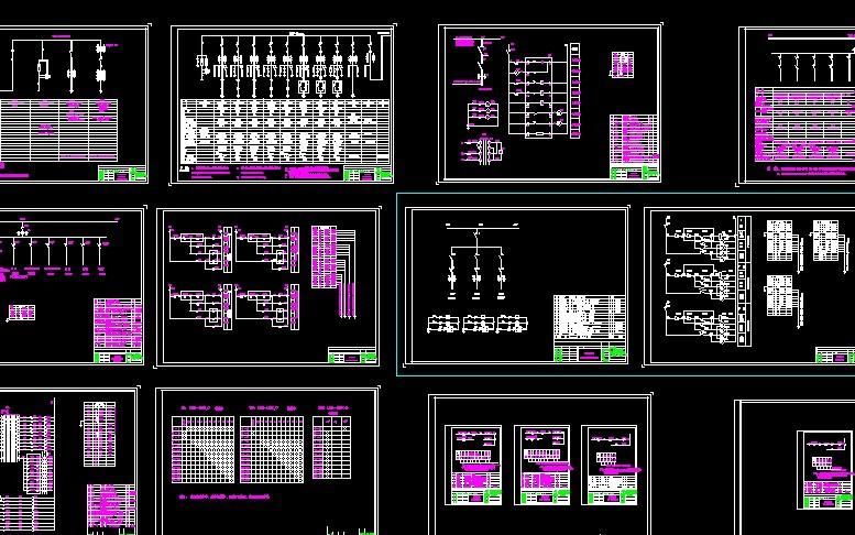 5kv)电气设计,设计范围包括:一次系统,低压配电屏系统及一,二次接线