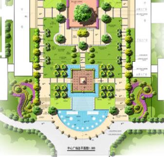 某校园景观规划绿化平面图