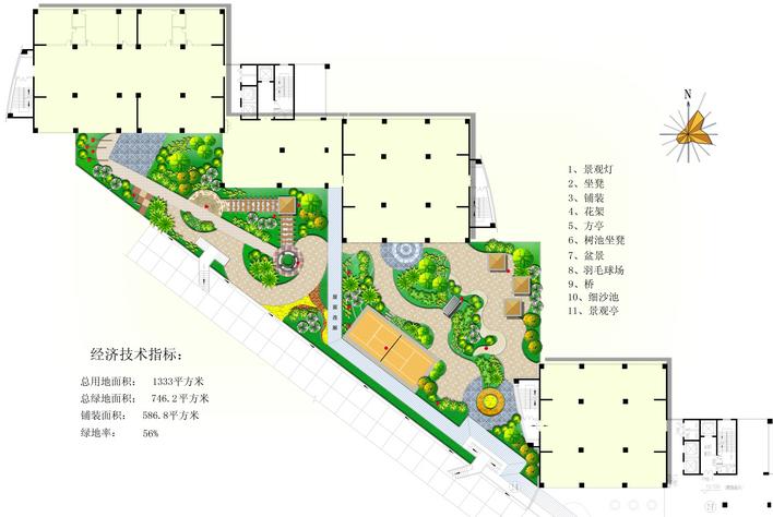 屋顶花园设计图片