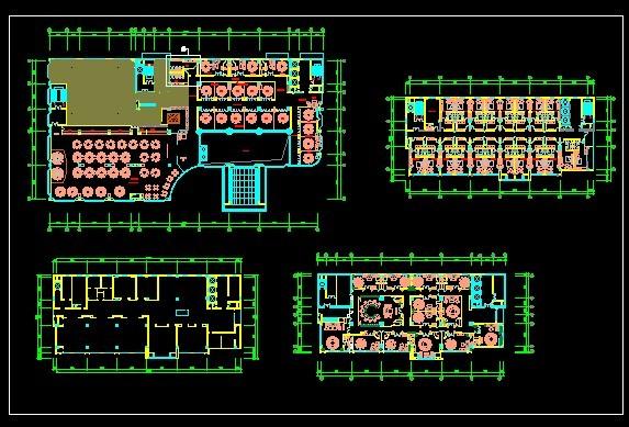 四星级酒店室内装修平面图 co土木在线 原网易 高清图片