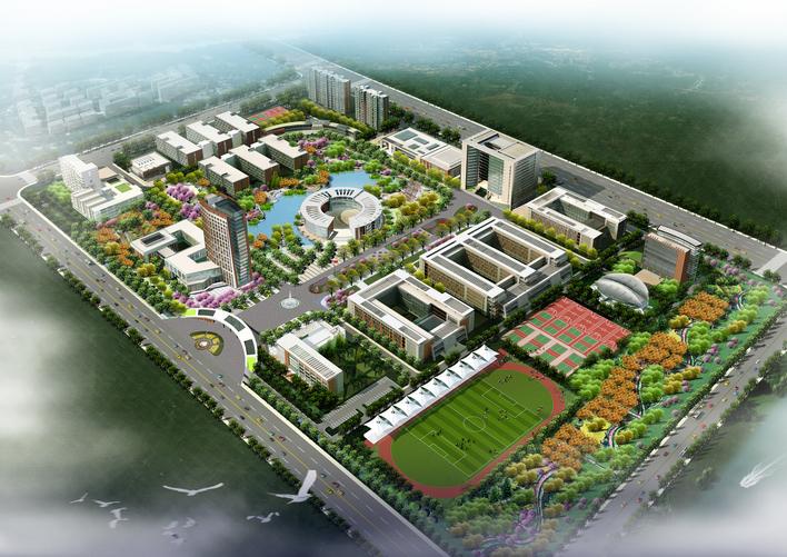 树型柱 医专景观 同济-上海金融高专学校新校区扩建工程规划总图 文字