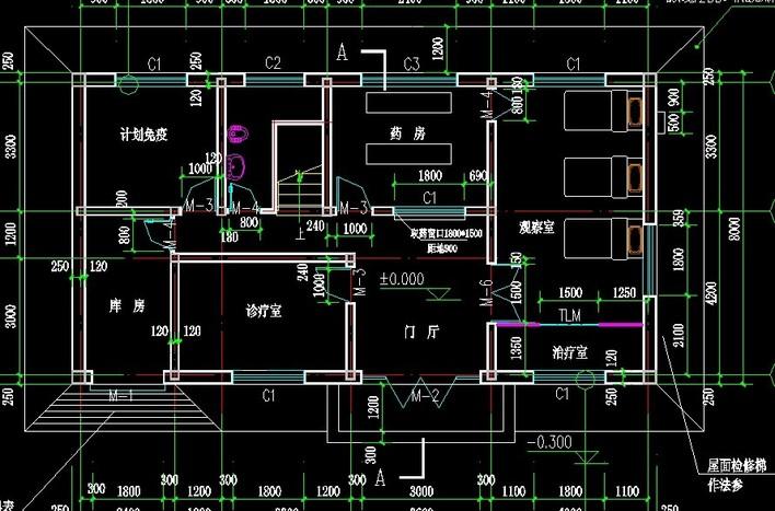 卫生室设计平面图