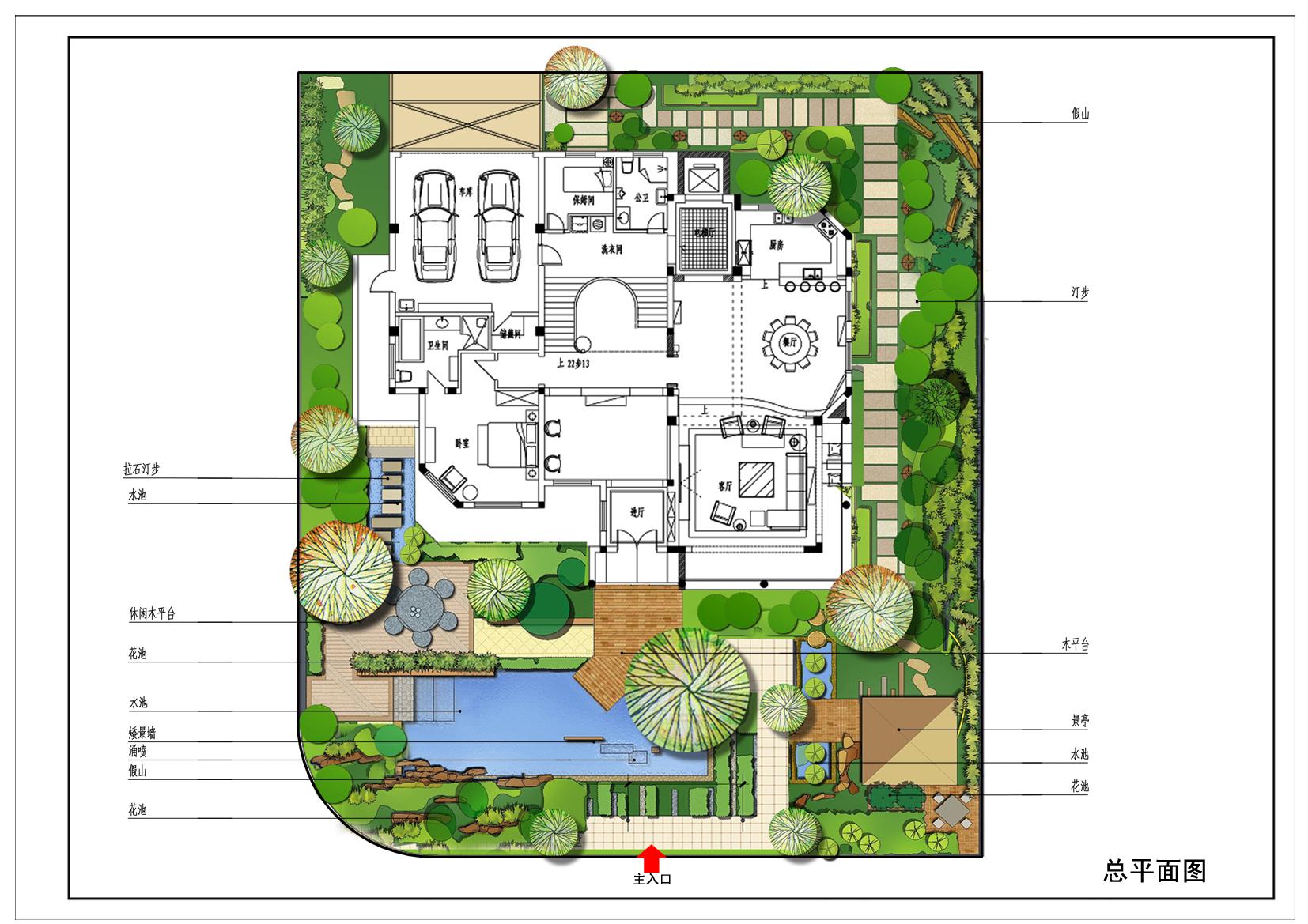 图纸 园林设计图 别墅庭院方案  上传时间:2010-09-02 所属分类:园林