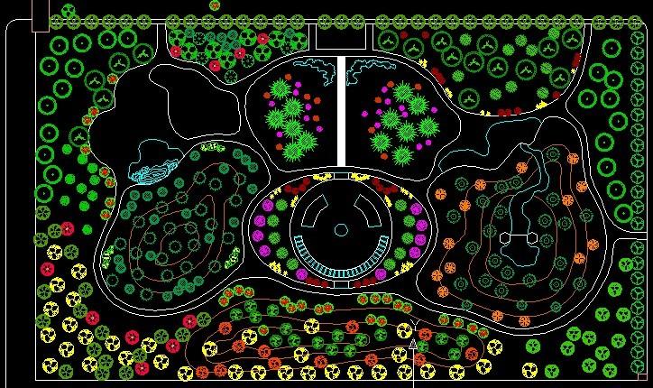某地园林设计平面图 植物配植设计