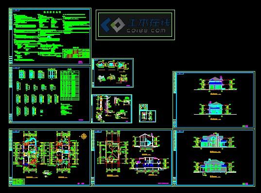 欧式二层别墅建筑施工图
