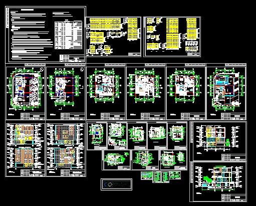 别墅全套建筑设计施工图_cad图纸下载-土木在线