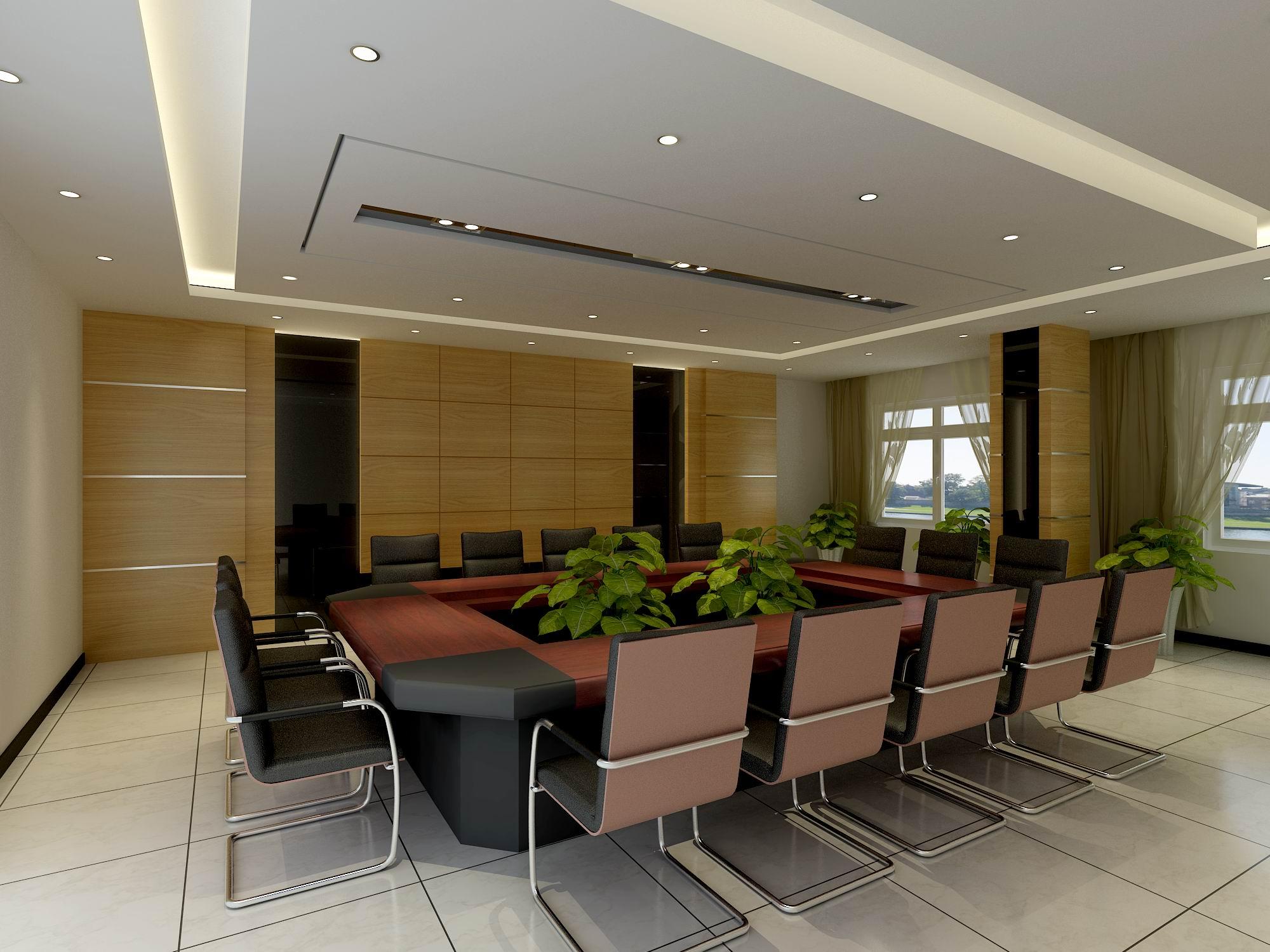 会议室效果图施工图             会议室效果图施工图,小会议室,学习