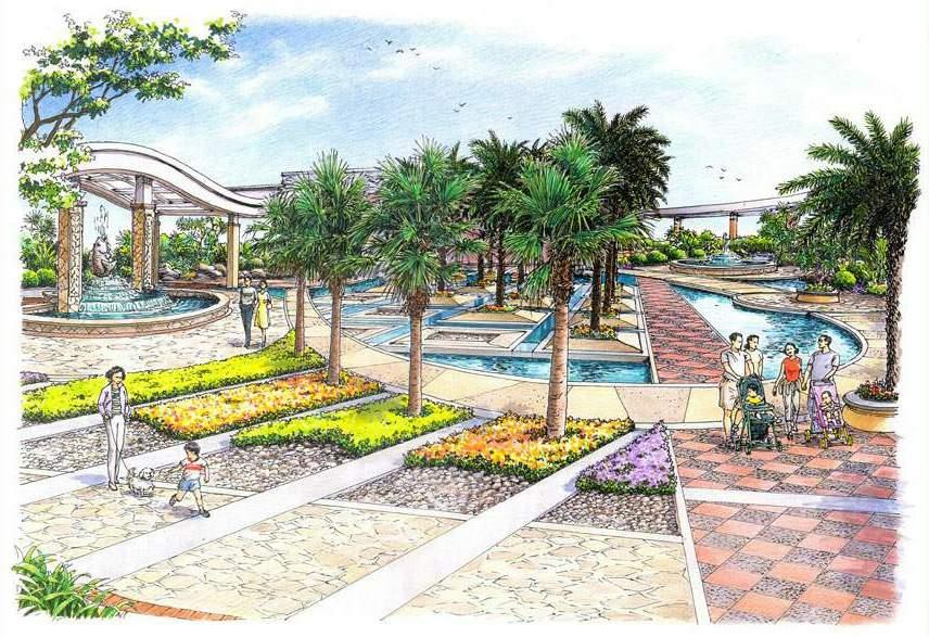 某公司大楼圆形屋顶花园景观绿化配置详图 某幼儿园内景观设计方案及