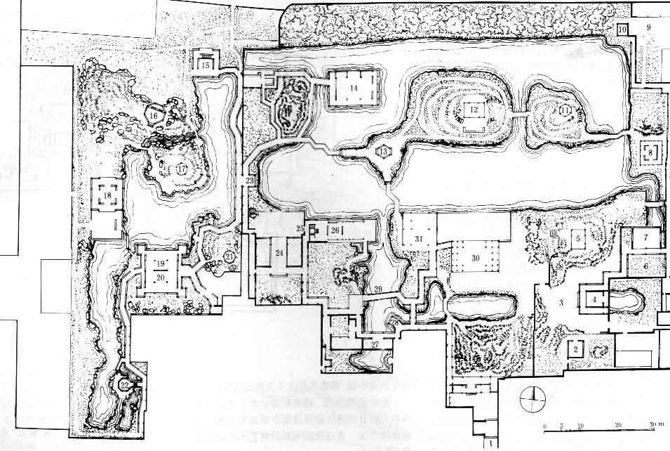 有苏州拙政园,沧浪亭等等的平面图