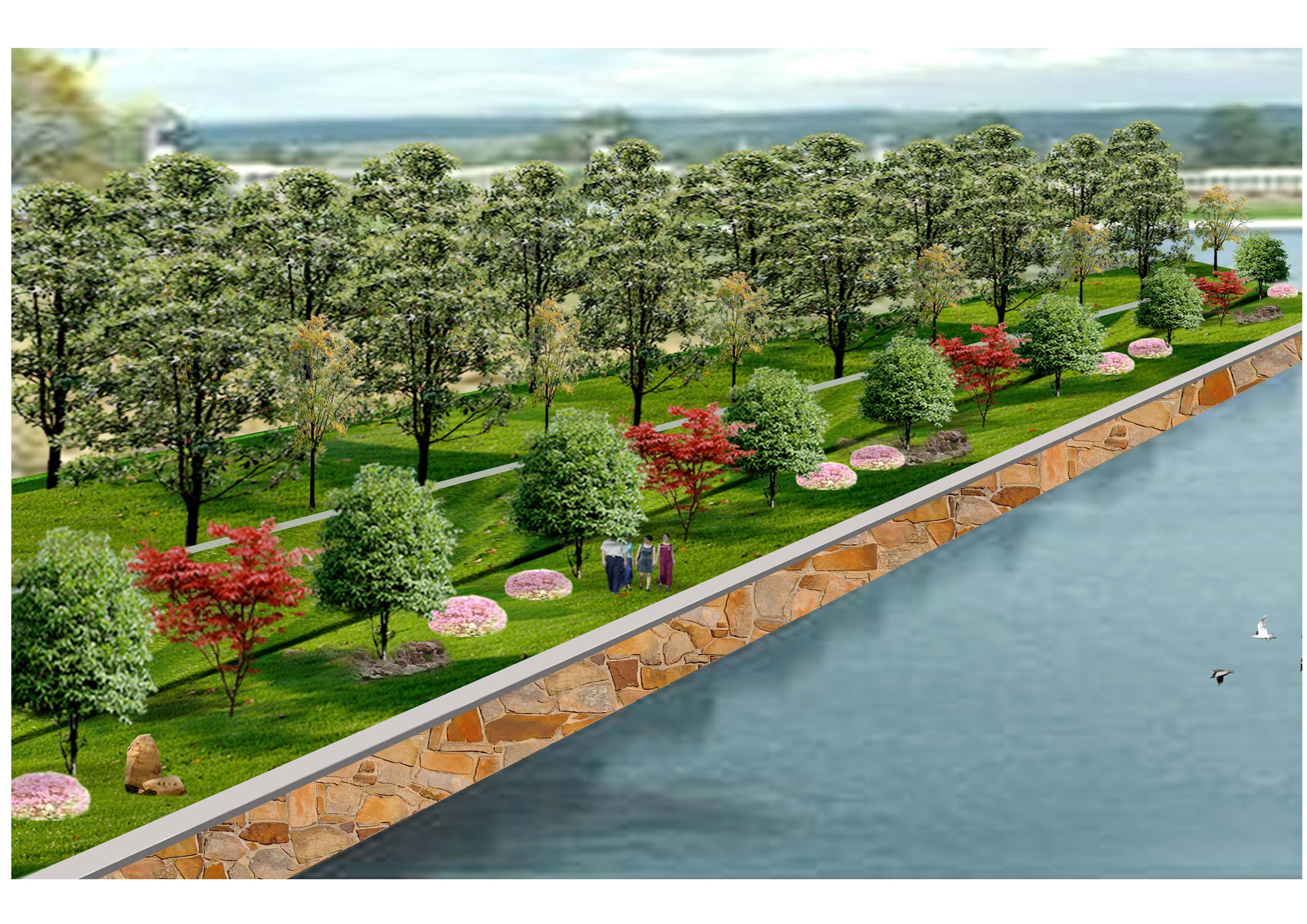 陈红卫室内景观建筑手绘效果图300张2 某景观小区规划设计含植物配置