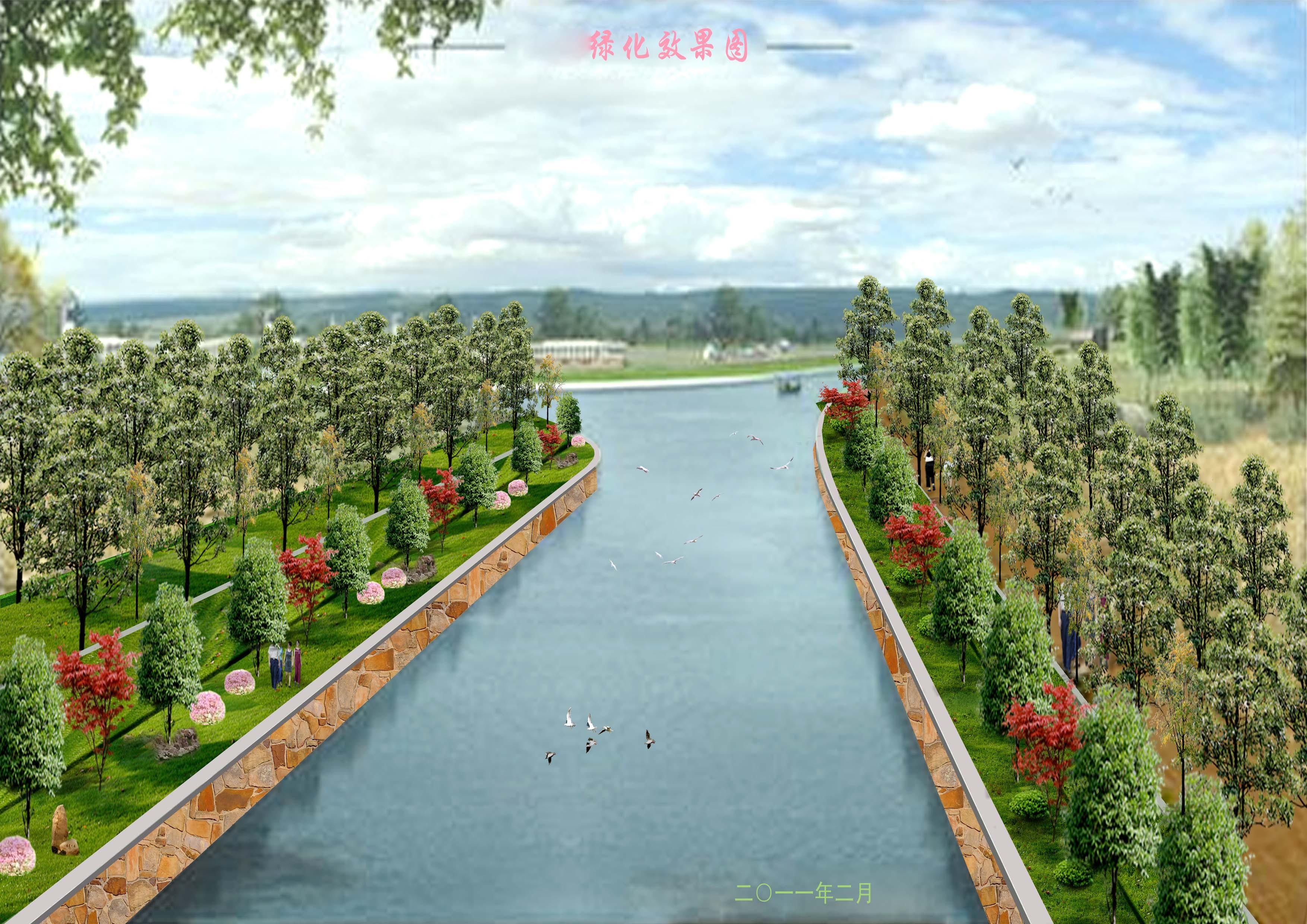 手绘效果图300张2 某景观小区规划设计含植物配置图及效果图和小品 江