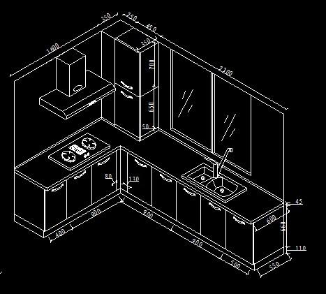 酒店廚房施工圖 廚房櫥柜施工圖  所屬分類:室內設計cad素材 裝修方案