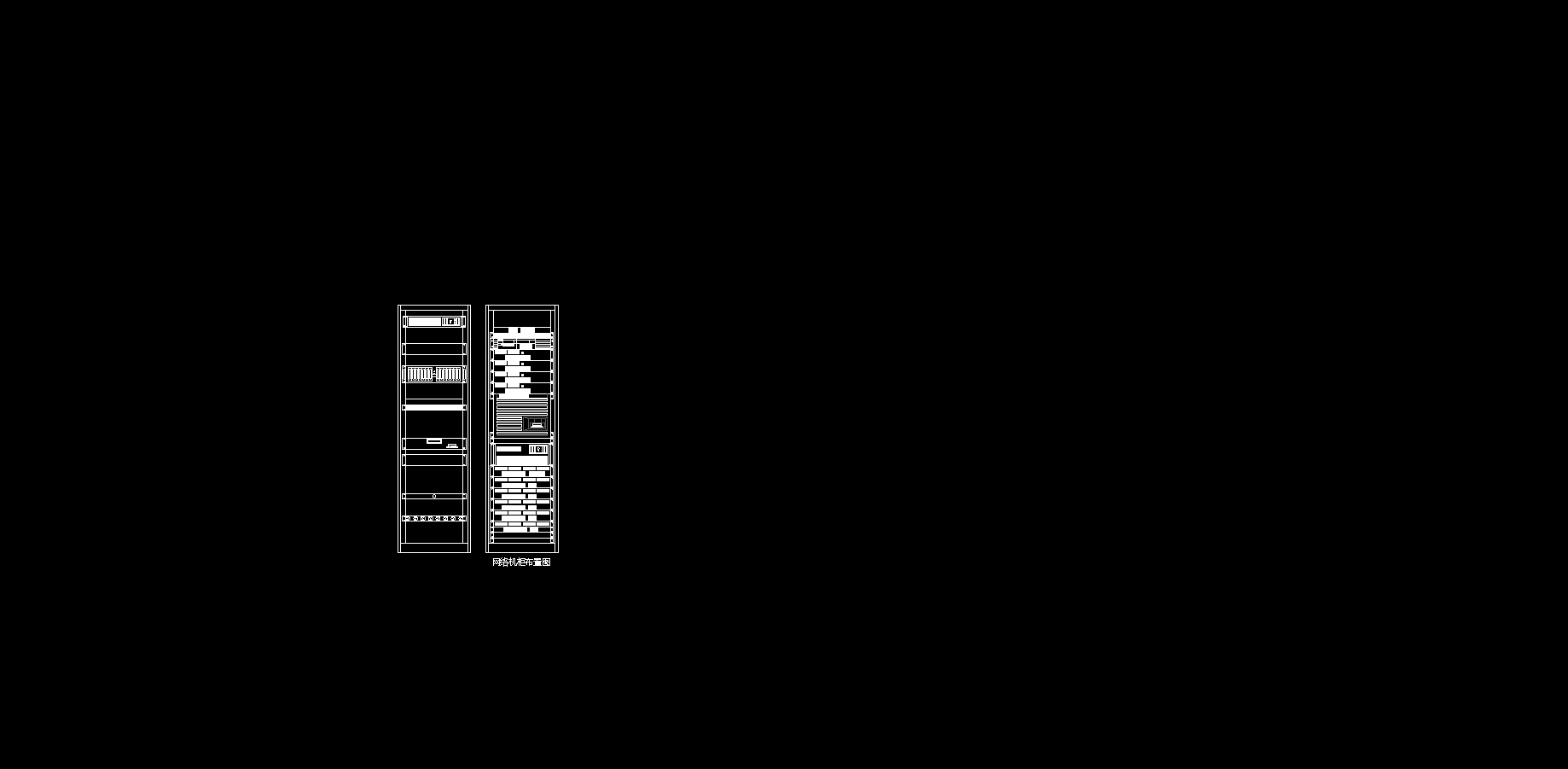 伯分伯原创 综合布线机柜cad图块_co土木在线