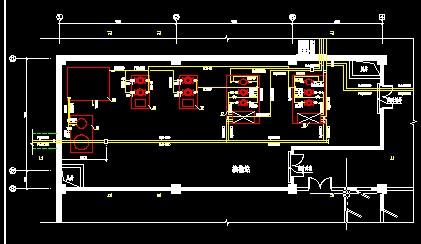 柜电器柜图纸 供热30万平方米小区水水换热站施工图