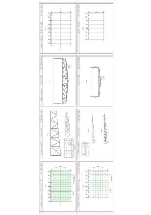 10米三角钢桁架和30米跨钢图纸图纸固定式屋架登车桥图片