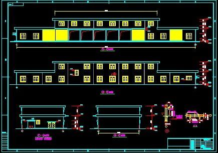 某厂内部运输公司的修理车间和行政楼