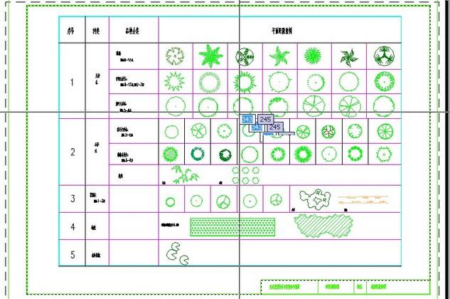 植物配置表植物配置表图例 植物配置表平面图1;