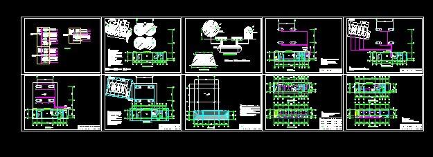 某地一层加油站建筑电气设计施工图纸 中石化加油站罩棚网架结构全套