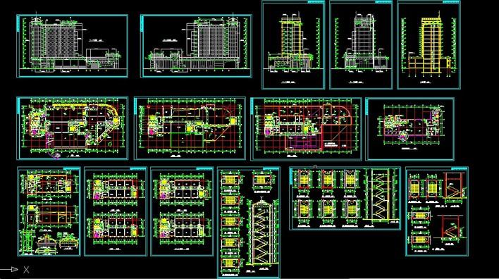 高层银行办公楼建筑施工图设计