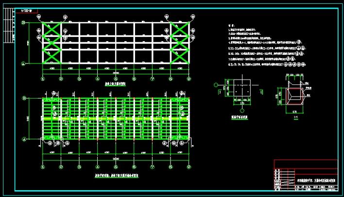 轻屋面三角形钢屋架设计设计图