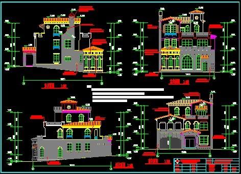 图纸 建筑图纸 别墅图纸 别墅设计图 完整独立别墅施工图  上传时间
