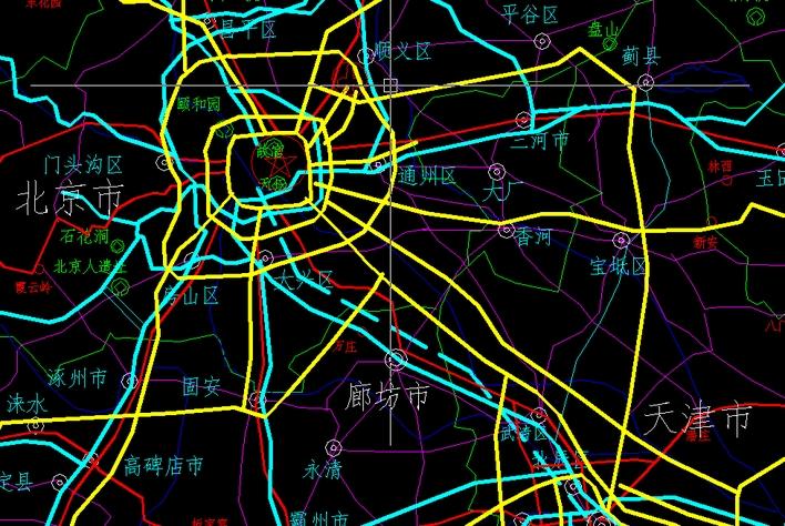 中国各省市县地图cad完整版