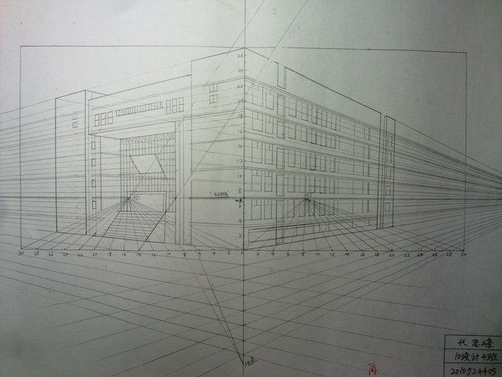 建筑透视图 亭子透视图