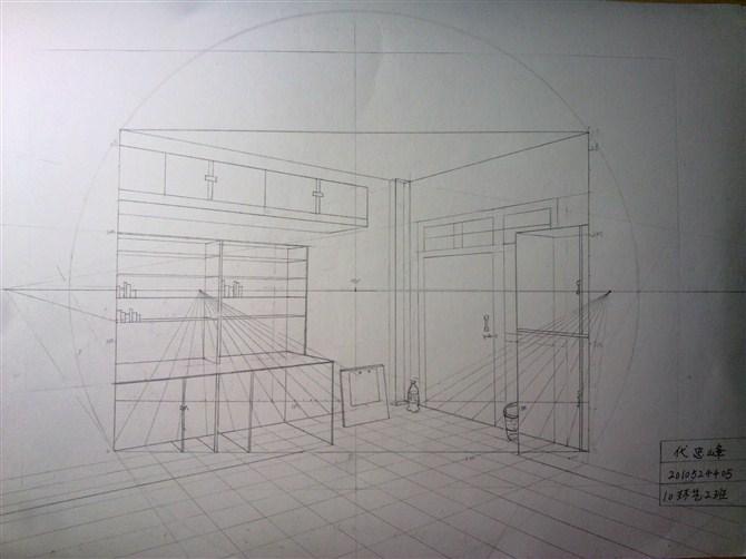 寝室手绘; 宿舍手绘; 透视图_co土木在线图纸下载