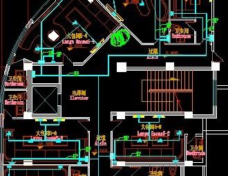 某城市某ktv装修设计平面布置图纸 某地奢华别墅家庭ktv室设计装修图