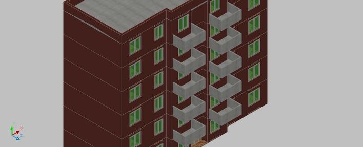 某小区楼房立体模型_co土木在线(原网易土木在