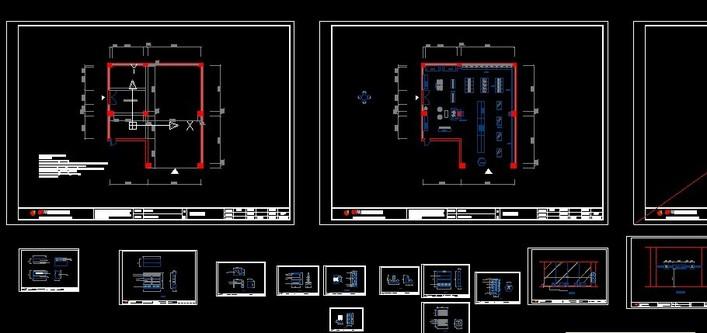 重庆框架结构小型展厅室内装修设计方案图