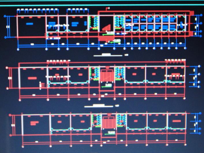 【房屋建筑学】房屋建筑学课程设计12班中学_cad图纸图片