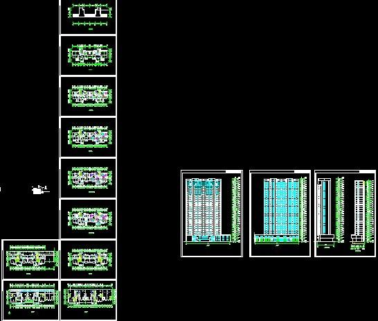 图纸 经典实用的一梯3户29层