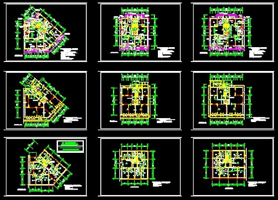 多层住宅平立面图