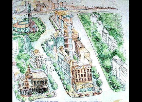 手绘永清街规划效果图