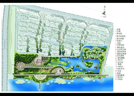 江边广场景观设计平面图